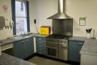 Jubilee Hall Kitchen area.